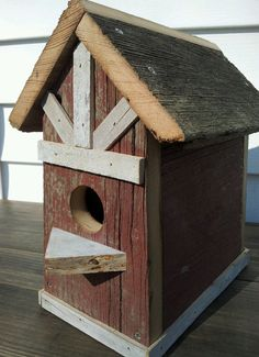 Barnwood Birdhouse Handcrafted from Recycled by SoilandSawdust, $34.00