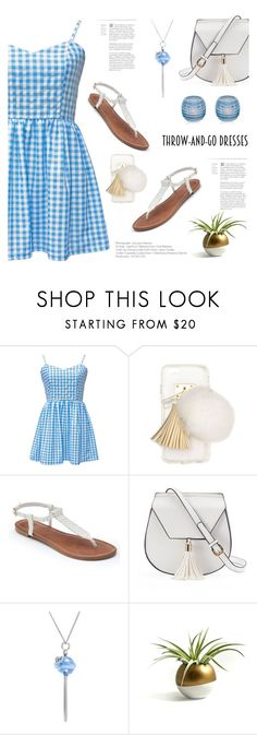 """Throw and Go"" by aneetaalex ❤ liked on Polyvore featuring Ashlyn'd, Apt. 9, Yoki, Simone I. Smith and Dartington Crystal"
