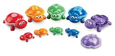 Learning Resources Number Turtles Set, 15 Pieces - The Snap-n-Learn turtles offer children an engaging way to sharpen fine motor skills while learning numbers, shapes, and colors. Match the momma turtle with the corresponding baby turtle. Each baby turtle fits under the momma turtle's shell for extra hide-and-seek fun. Includes 5 two-piece momma ...
