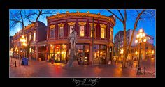 A pano shot of Gastown, Vancouver BC My Favorite Image, Vancouver, The Past, Shots, Mansions, House Styles, Photography, Decor, Photograph