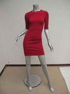 Diane Von Furstenberg Valentines Red Bodycon OKA Mini Dress 0 | eBay