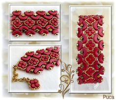 Planche BraceletJilo Dark Coral Red