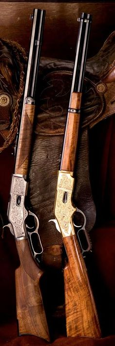 Guns that helped the good guys win the West! The Guns didn't do it by themselves! Weapons Guns, Guns And Ammo, Lever Action Rifles, Firearms, Shotguns, Revolvers, Fire Powers, Hunting Rifles, Cool Guns