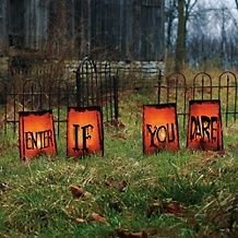 Grandin Road Enter If You Dare Halloween Decoration #Halloween decorations