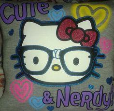 Hello kitty t shirt pillow.  #hellokitty #cute #nerdy #pillow #bellaslittlebowtique #forsale