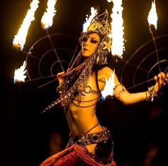 fire queen belly dancer