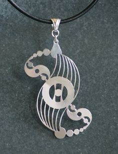Crop Circle Sterling Silver Pendant On Greek by IntricateCuts, $110.00