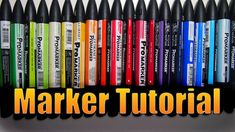 This time I'm teaching you how to use Winsor&Newton Promarkers. Let me know what you think! My Twit. Pro Markers, Brush Markers, Alcohol Markers, Marker Crafts, Marker Art, Colouring Techniques, Art Techniques, Brush Drawing, Coloring Tutorial