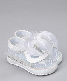Look at this #zulilyfind! Designer's Touch White & Silver Christy Shoe by Designer's Touch #zulilyfinds
