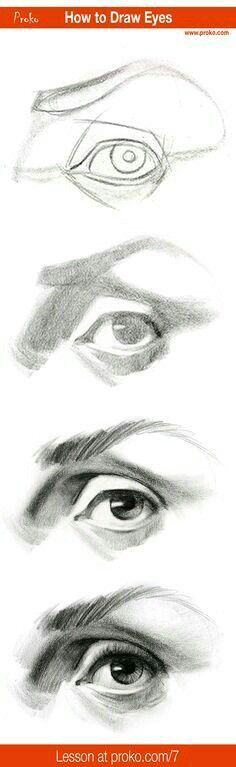 to Draw an Eye – Step by Step Draw realistic eyes with this step-by-step instruction. Full drawing lesson at realistic eyes with this step-by-step instruction. Full drawing lesson at Drawing Lessons, Drawing Techniques, Pencil Portrait Drawing, Pencil Drawings, Painting & Drawing, Art Drawings, Drawing Portraits, Horse Drawings, Pencil Art