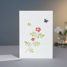 Rose & Butterfly Card