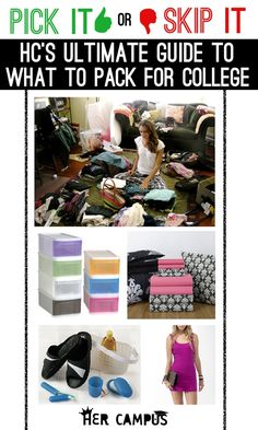 Pick it or skip it?  The ultimate guide to what to pack for college.