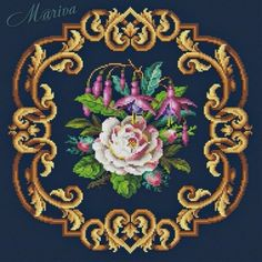 Cross Stitch Flowers, Cross Stitch Patterns, Wash Pillows, Lace Making, Rug Hooking, Persian Rug, Flower Patterns, Needlepoint, Needlework