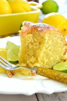 Vintage French Soul ~ This buttery, zesty Pound Cake is AMAZING! Bursting with juicy lemon and lime flavor, the soda gives this cake such a moist and tender crumb and a wonderful crisp crust. 7up Pound Cake, Pound Cake Recipes, Bunt Cakes, Cupcake Cakes, Cupcakes, Just Desserts, Delicious Desserts, Yummy Recipes, Yummy Food