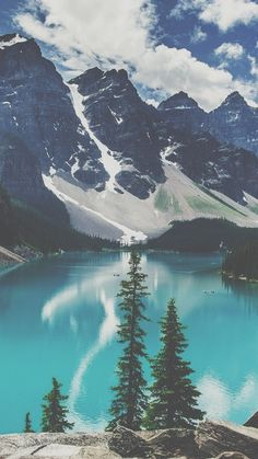 Mountains and lakes