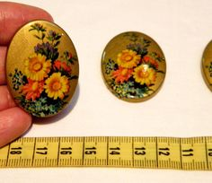 See my shop for all the settings you need to make inexpensive and lovely jewelry for family and friends this holiday!  Cabochon  4 Rare Vintage Floral and Gold by bansheehouseofmake, $10.00