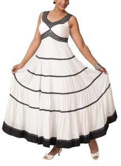 White Tiered Crinkled Dress by Neha Gursahani | Indian Designers | Dresses