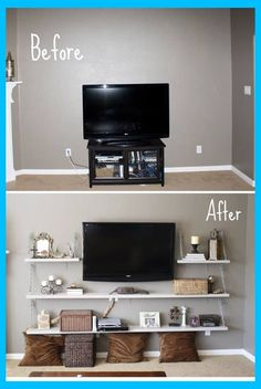 Ideas Remodel Living Room Small Spaces Tips Living Room Design Small Spaces, Wall Decor Bedroom, Cheap Home Decor, Small Tv Room, Small Living Room, Home Remodeling Diy, Small Living Room Layout, Living Room Diy, Diy Living Room Decor