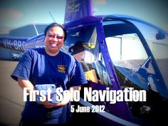 Annie fly first solo navigation flight.