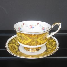 Paragon Gold Gilded Vintage Tea Cup and Saucer Set by DesignWise4U, $48.00