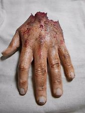 HORROR PROPS Severed Cut Off Left Hand HALLOWEEN Body Parts fx ZOMBIE FREAK SHOW