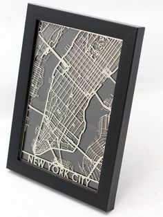 Stainless Steel New York City Cut Map by CutMaps on Etsy
