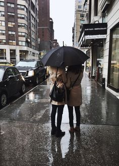 I love this. It makes me think of a rainy day where we decide to explore a city. So we go to book stores and coffee shops, and huddle close when we walk to keep warm.