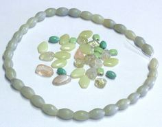 Mixed Lot of Olive Jade Beads by BeadsFromHaven on Etsy, $3.10