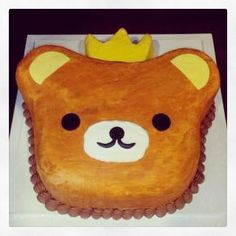 A fun bear birthday cake. Photo by Sugar Flower Cake Shop. www.sugarflowercakeshop.com
