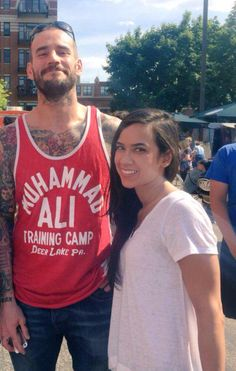 AJ LEE And HER MAN  CM PUNK