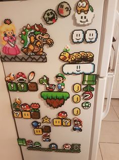 Mario perler beads iron on beads Perler Bead Designs, Pearler Bead Patterns, Perler Patterns, Quilt Patterns, Hama Beads Mario, Diy Perler Beads, Pearler Beads, Deco Gamer, Art Perle