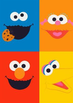 Sesame Street Birthday Printables | Sesame Street Characters Birthday Invitation ALL COLORS ALL CHARACTERS