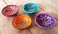 Set Of 4 Turkish Hand made Ceramic Bowl Set / Ceramic by Turqu50, $60.00