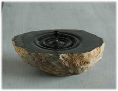 Water drop sculpted from stone by Hirotoshi Ito
