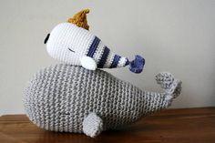 Peluches baleines crochet Moby - patron détaillé en français chez Makerist