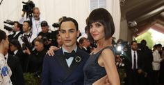 Zac Posen and Katie Holmes at the Met Museum Costume Institute Gala 2015