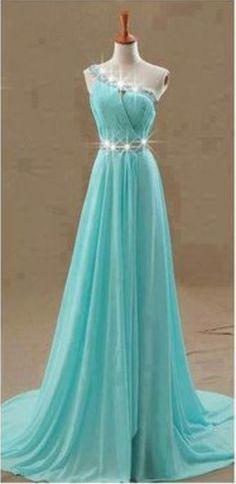 Sexy Prom Dress, One Shoulder Prom Dresses,Blue #prom #promdress #dress #eveningdress #evening #fashion #love #shopping #art #dress #women #mermaid #SEXY #SexyGirl #PromDresses