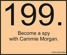 Become A Spy With Cammie Morgan