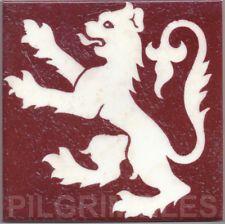 Metric Porcelain Tile Gothic Rampent Lion Walls Floors Kitchens Bathroom