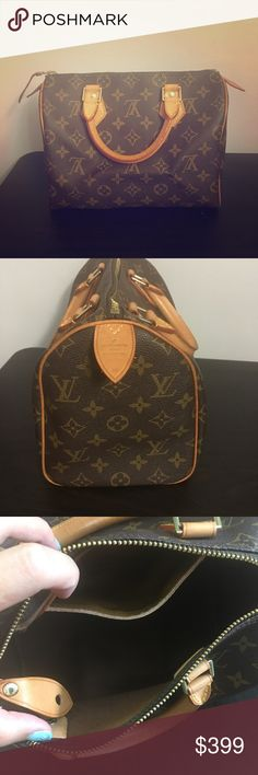 Louis Vuitton 90% New Speedy 25 No stain, scratch but no lock and key and maybe the dust bag😅. This bag is in my closet sooo many years n it was a gift. It is a like new condition because I rarely use it, I don't really want to sell it because it was a gift, but I am remodeling my apt. now and it's time to get rid of the things I don't use. I can't tell you if this bag is authentic, since I didn't buy it myself n I don't thing it will be ok to call my ex to ask about it, I can provide more…
