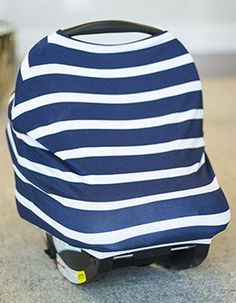611b3803b2 Canopy Couture - Black Stripes Baby Boy Carseat Covers