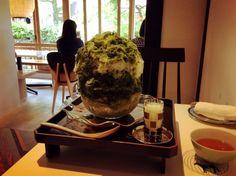 和カフェ かき氷 抹茶 「お茶と酒 たす