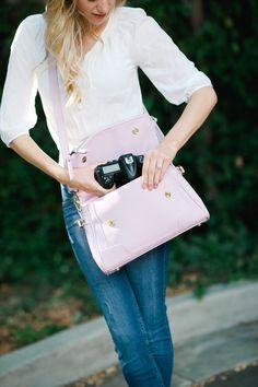 Abby Lilac Camera Bag