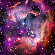 The Small Magellanic Cloud is a galaxy about 200,000 light-years way that orbits our own Milky Way spiral galaxy. (Photo Credit: NASA)