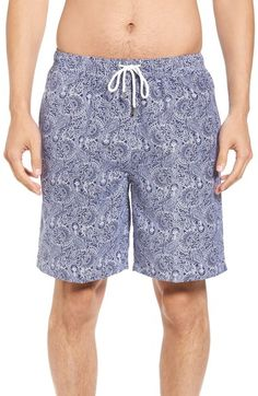 Peter Millar Paisley Swim Trunks. #petermillar #cloth #