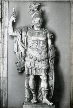 Statue of Mars, ca. 90 A.D.  This is a sculpture of Mars, the Roman version of Ares, from around 90 A.D.. Mars was much more prominent in Roman culture than Ares was in Greece. Source: http://employees.oneonta.edu/farberas/arth/Images/109images/Roman/augustus/mars.jpg