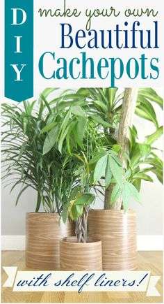 DIY Cachepot from Shelf Liners
