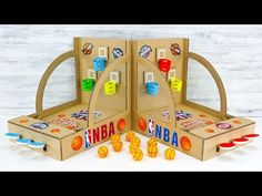 How to Build NBA Basketball Board Game from Cardboard In today's video I show you how to make amazing basketball game from cardboard. As mini basketball ball. Basketball Games For Kids, Nba Basketball, Science Projects, Projects To Try, Mini Arcade, Summer Science, Paper Magic, Arts And Crafts, Diy Crafts