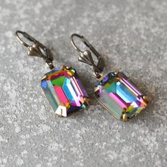 Hey, I found this really awesome Etsy listing at https://www.etsy.com/listing/213258119/rainbow-earrings-swarovski-crystal-dark