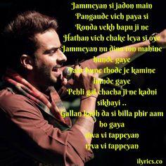Badnam Lyrics By Mankirat Aulkah -